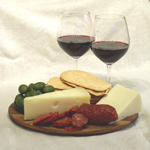 red wine and cheese boar