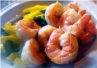 perfectly cooked shrimp
