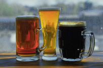 three different beers