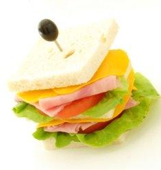 ham and cheese finger sandwic