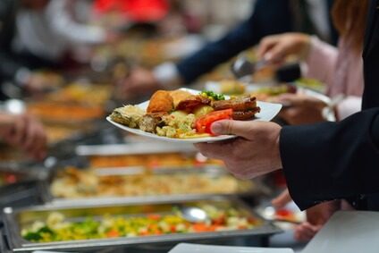 buffet with chafing dishes