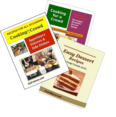 Picture of the 3 best large quantity recipe books
