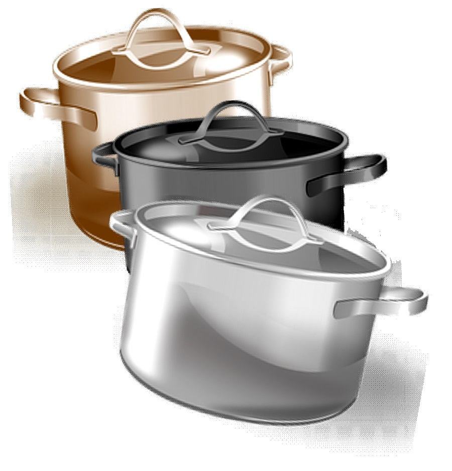 Large pots for cooking for a crowd