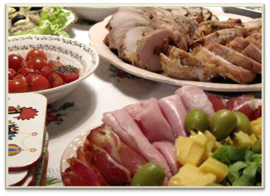 meat and vegetable trays appetizers