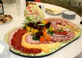 platter of meat and cheese