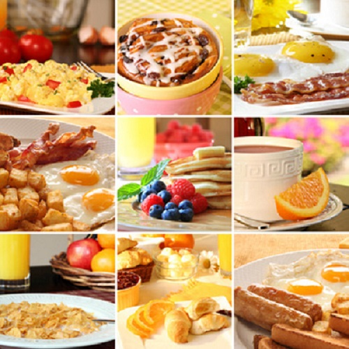 Picture of breakfast and brunch dishes such as quiche, french toast and omelets