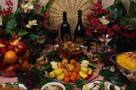 image of buffet table