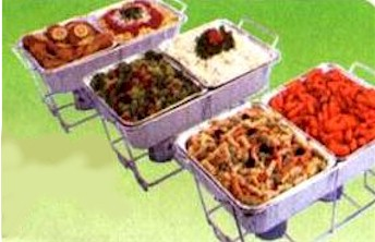 Disposable chafing racks dishes