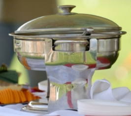 large silver chafing dish
