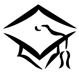 drawing of a graduation hat