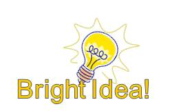 image of lightbulb titled bright idea