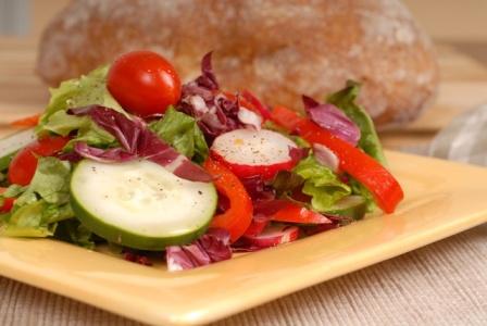 beautiful tossed salad bar