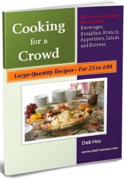 free large quantity recipe book