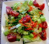 colorful tossed salad