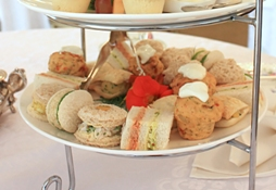 Tray of finger sandwiches
