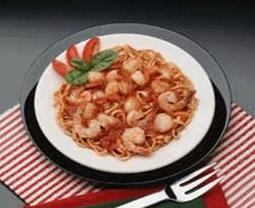 plate of shrimp and pasta