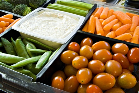 colorful vegetable tray