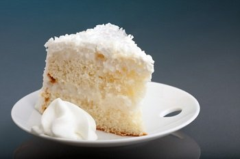 coconut cake slice