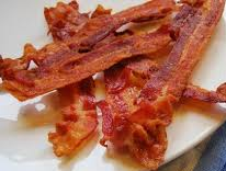 bacon slices that are extra crispy