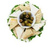 platter of finger sandwiches