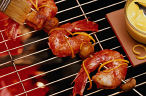 grilled shrimp on a skewer