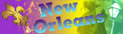 Image of the city name new orleans