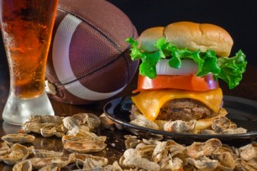 Superbowl burgers and other food